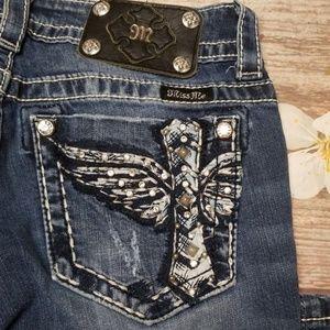 Miss me boot cut jeans wing cross